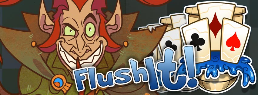 flush it solitaire card game