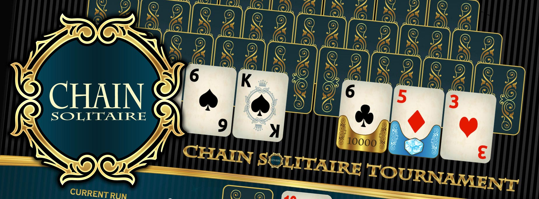 chain card classic deluxe pyramid solitaire